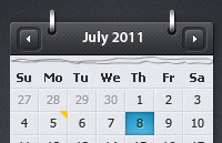 Link toCalendar with event preview psd