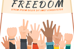 Call free crowd arm vector graphics