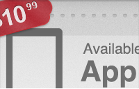 Link toCall to action download app label with price tag psd