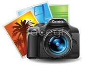 Link toCamera photo cartoon vector