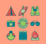 Link toCamping element icons vector
