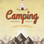 Link toCamping poster retro vector