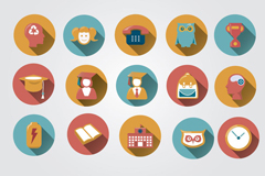 Link toCampus 15 colour icon vector