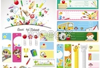 Link toCampus card stationery vector