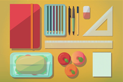 Campus desk top vector