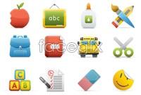 Link toCampus icon cartoon vector graphics