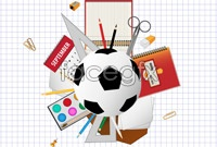 Campus sports stationery vector