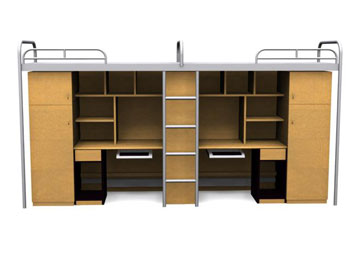 Link toCampus-style one bed cabinet 3d model