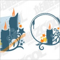 Link toCandles high pattern element vector material