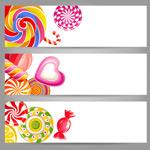Link toCandy decoration banner vector