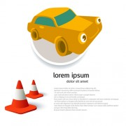 Link toCar advertising poster template design vector 02 free