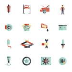 Link toCar parts accessories vector