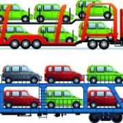 Link toCar transporter creative vector