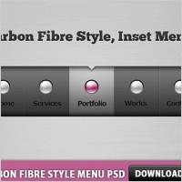 Link toCarbon fibre style menu free psd
