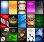 Card menu background vector