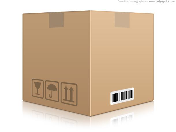Link toCardboard box icon (psd)