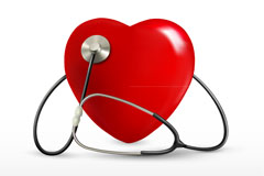 Link toCaring medical auscultation poster vector