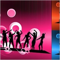 Link toCarnival characters in silhouette vector