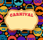 Link toCarnival text background vector