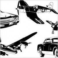 Link toCars and airplane vector