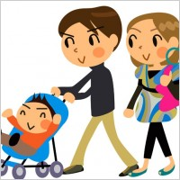 Link toCartoon a family of three vector