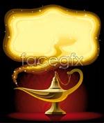 Link toCartoon aladdin lamp vector