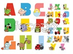 Link toCartoon alphabet table vector