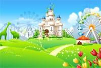 Link toCartoon amusement park vector