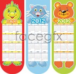 Link toCartoon animal 2012 calendar vector