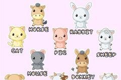 Link toCartoon animal alphabet vector