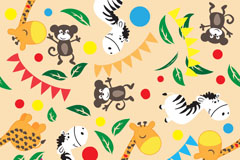 Link toCartoon animal and flag background vector