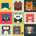 Link toCartoon animal icons vector