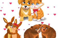 Link toCartoon animal lovers 5 vector