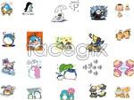 Link toCartoon animal patterns vector