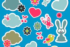 Link toCartoon animal stickers design vector