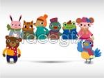 Link tovector board bulletin animals Cartoon