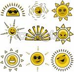 Link tovector face sun the of avatar Cartoon