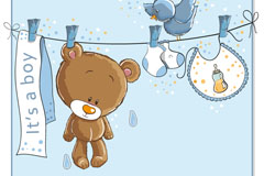 Link toCartoon baby bear vector illustration