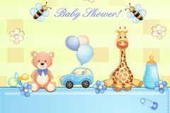 Link toCartoon baby christening party background vector