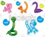 Link toCartoon balloon animal vector