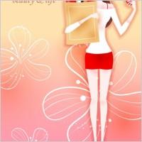 Link toCartoon beauty vector 02