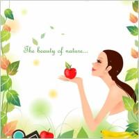 Link toCartoon beauty vector background 02