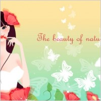 Link toCartoon beauty vector background 03