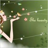 Link toCartoon beauty vector background 04