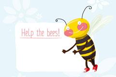 Cartoon bee background vector