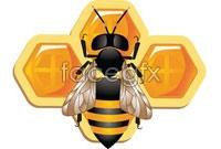 Link toCartoon bee hive, vector