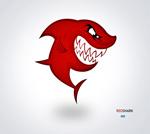 Link toCartoon big red shark