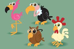 Link toCartoon bird design vector
