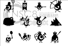 Link toCartoon bird icons
