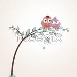 Link toCartoon bird lovers vector
